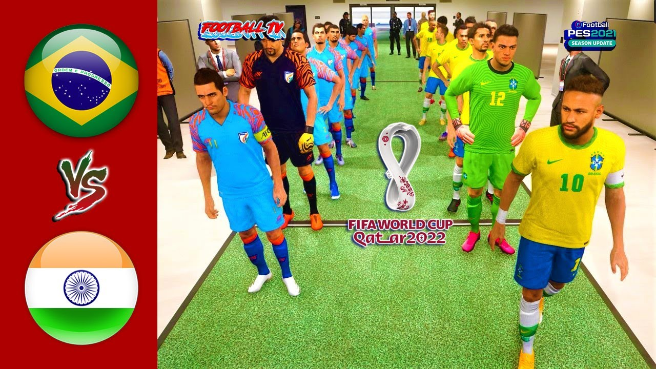 BRAZIL vs INDIA   FIFA WORLD CUP 2022   PES 2021 Gameplay PC