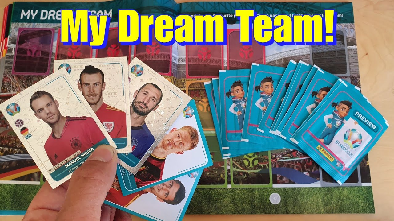 BUILDING MY DREAM TEAM with EURO 2020 PANINI STICKERS!