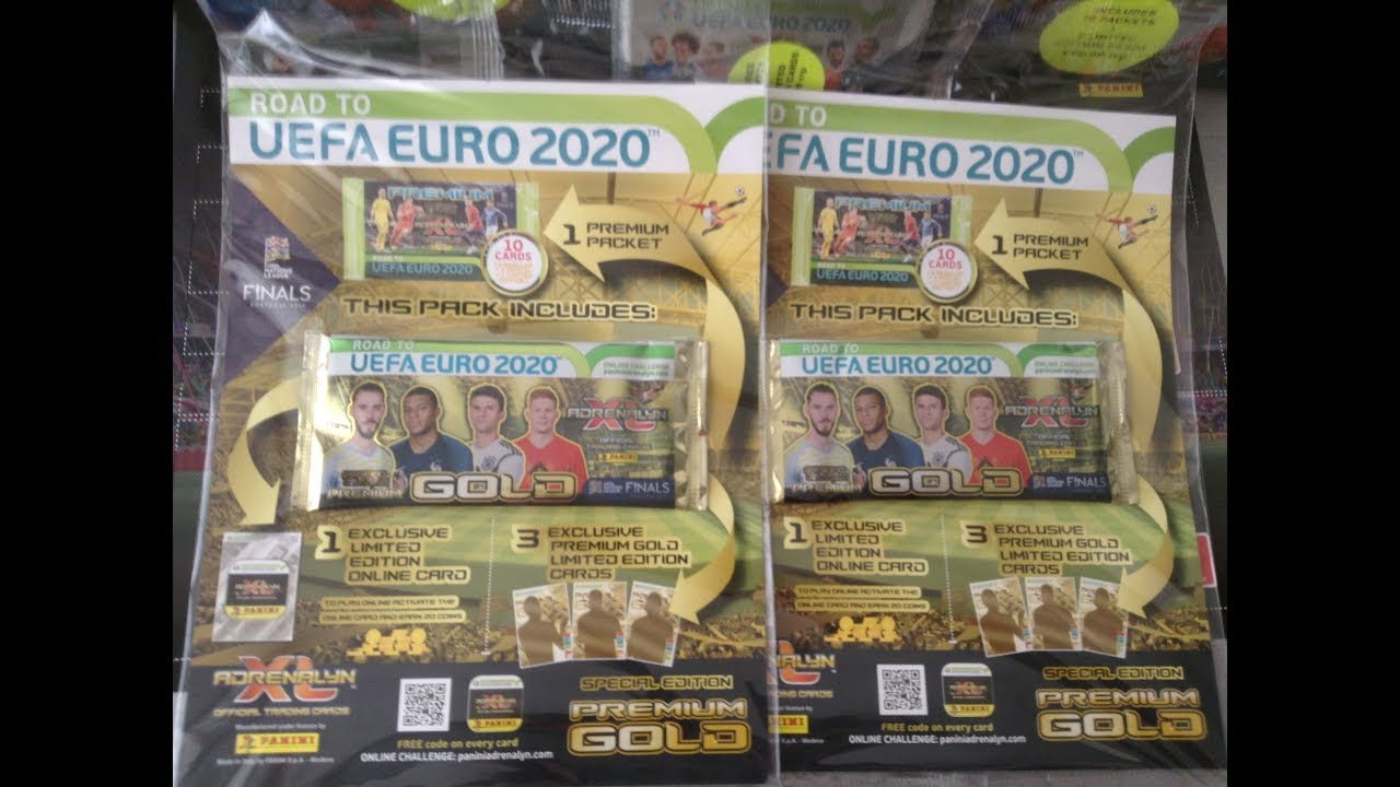 PANINI AXL ROAD TO EURO 2020 *** 2 UK GOLD PACKS/5 NEW LIMITED EDITION CARDS***