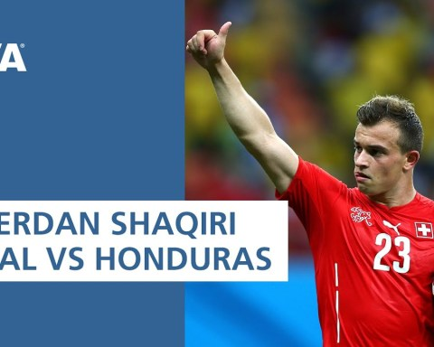 Xherdan Shaqiri opening goal vs Honduras | ALL THE ANGLES | 2014 FIFA World Cup