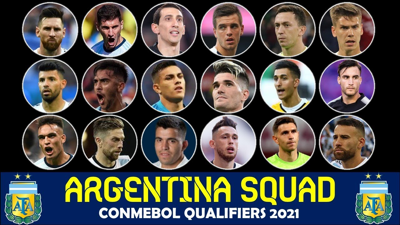 Argentina Squad for FIFA World Cup 2022 Conmebol Qualifiers - 29 Players List for MD 7 & 8