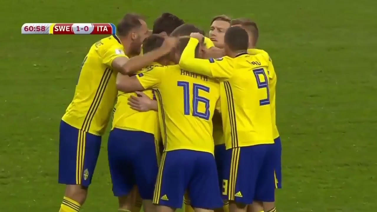 The Goal which took Sweden to the 2018 FIFA World Cup!