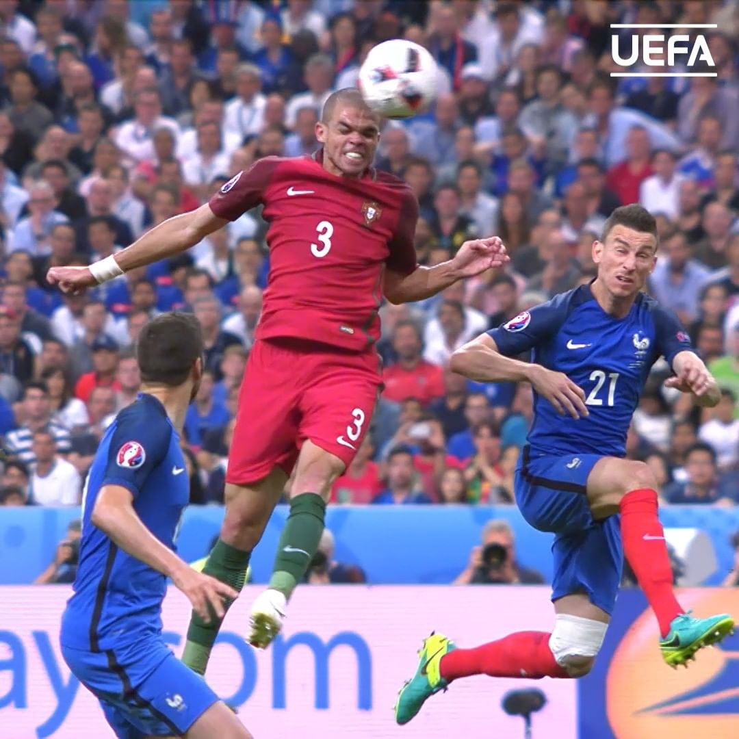 Pepe's masterclass in the EURO 2016 final!  Best defensive performance you've s...