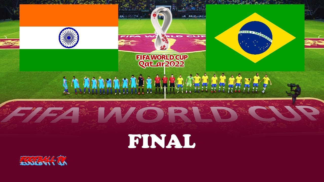 INDIA vs BRAZIL - Final FIFA World Cup 2022 - PES 2021 Gameplay Match