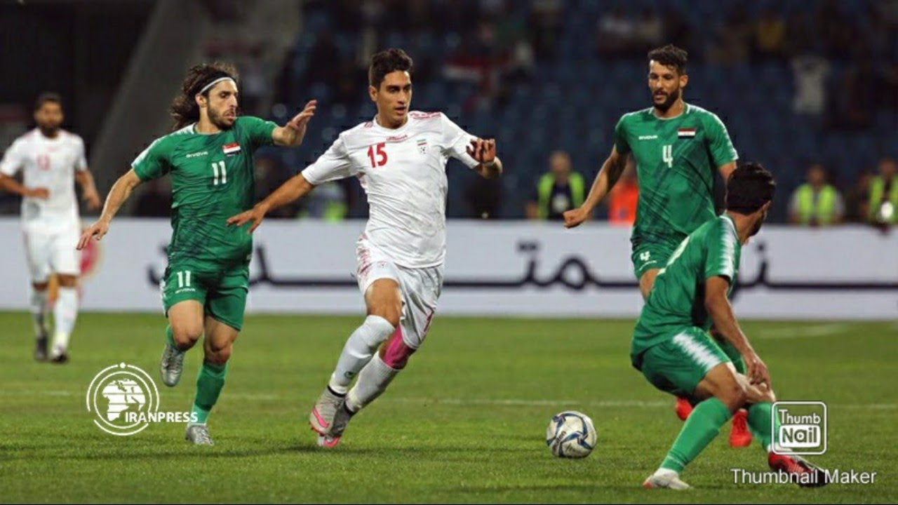Iran vs Iraq FIFA World Cup 2022 and AFC cup 2023 join qualifiers football match