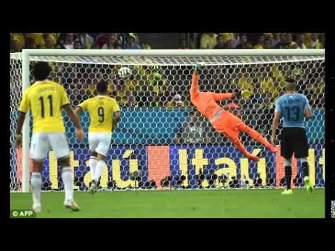 James Rodriguez Goal vs Uruguay - Crazy Colombian Commentary - World Cup 2014 Goal of Tournament