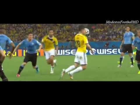 James Rodriguez' Perfect Goal against Uruguay (BEST GOAL of the World Cup 2014!)