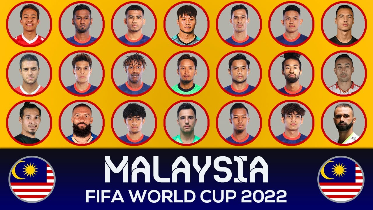 MALAYSIA SQUAD FIFA WORLD CUP 2022 QUALIFIERS ASIA