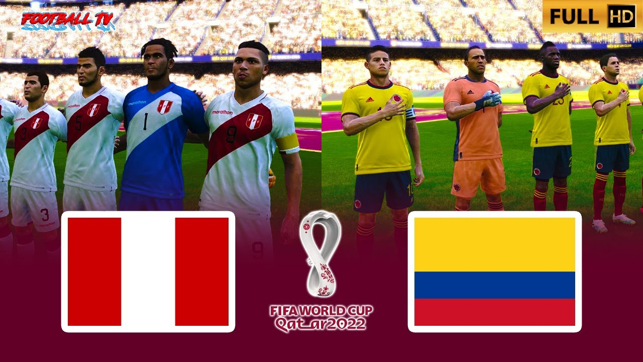 PERU vs COLOMBIA | FIFA World Cup 2022 | PES 2021 Match Gameplay