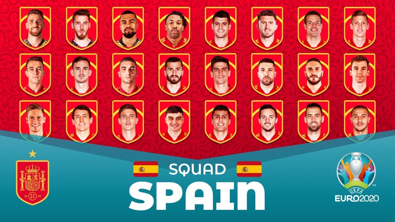 SPAIN SQUAD 2021 for UEFA EURO 2020 (2021) ft. AYMERIC LAPORTE Ramos Out