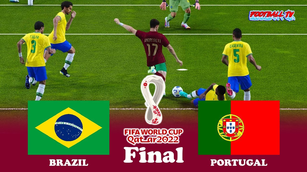 Brazil vs Portugal Final - FIFA World Cup 2022 - Full Match All Goals - PES 2021 eFootball Gameplay