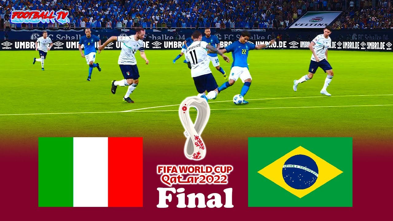 Italy vs Brazil   FIFA World Cup 2022 Final    PES 2021 eFootball    Match Gameplay