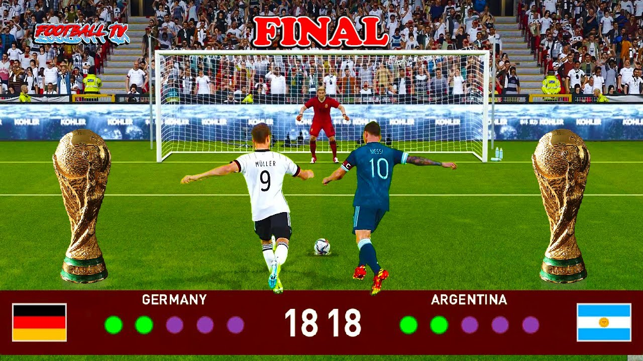 Penalty Shootout - Germany vs Argentina - Final FIFA World Cup 2022 - PES 2021 eFootball