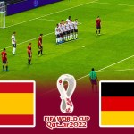 SPAIN vs GERMANY - FIFA World Cup 2022 - Full Match eFootball PES 2021