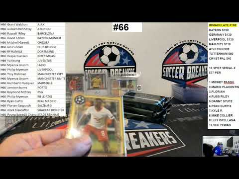 2020-21 Topps Museum Collection UEFA Champions League 6 Hobby Box PYT Break #66 (SOCCER BREAKERS FC)