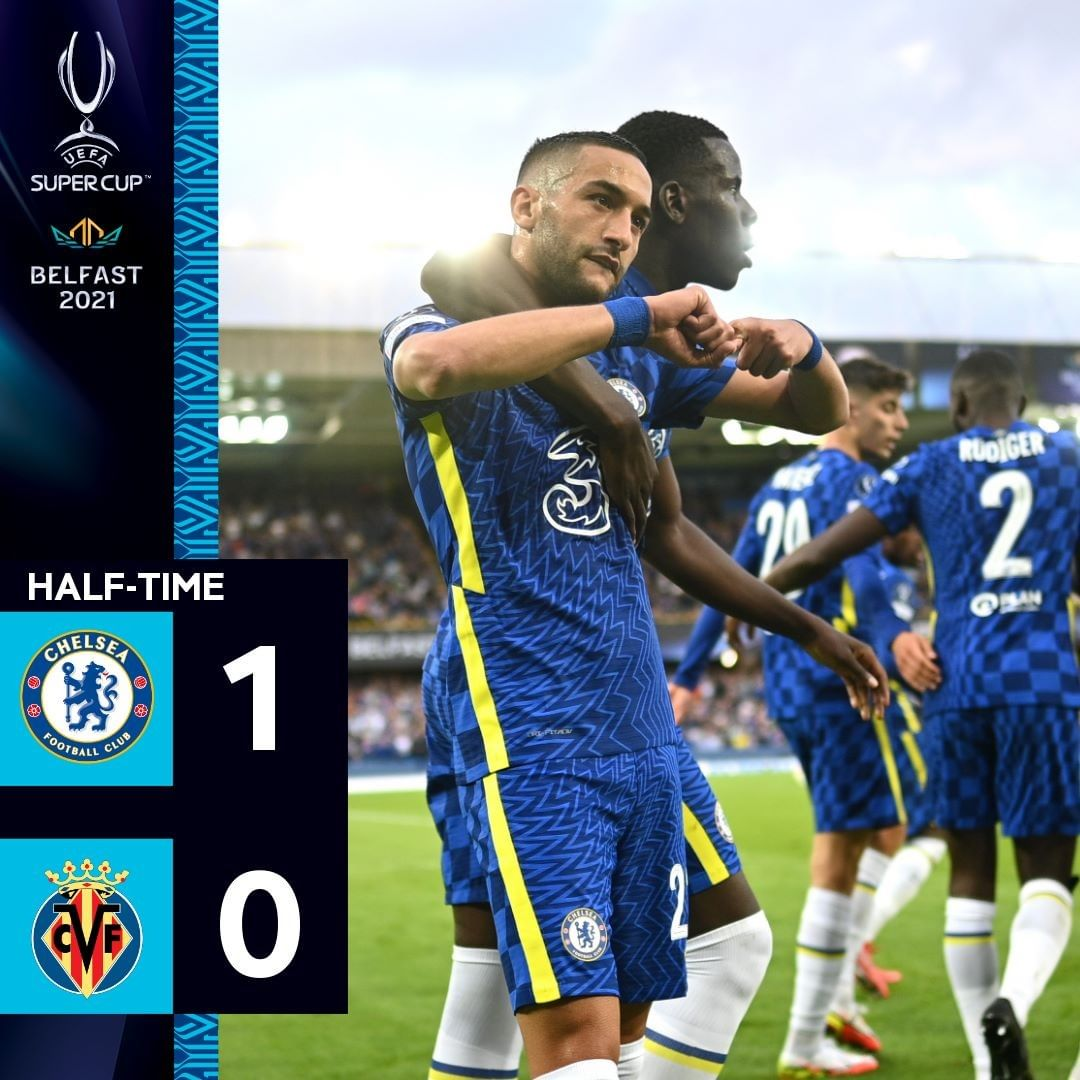 Chelsea lead at the break  Who's stood out for you in the first half?    ...