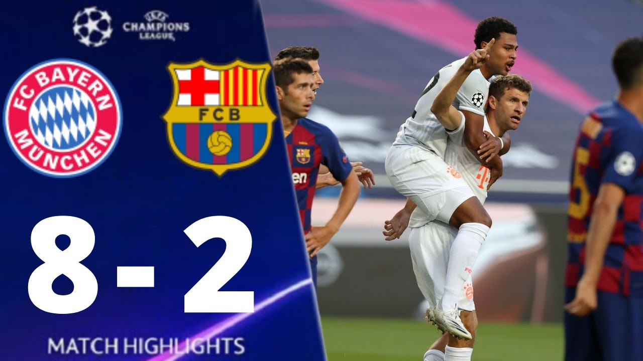 Barcelona vs Bayern Munich  2-8 UEFA Champions League 2020 All Goals And Extended Highlights
