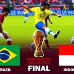 Brazil vs Indonesia Final - FIFA World Cup 2022 - Match eFootball PES 2021 Gameplay