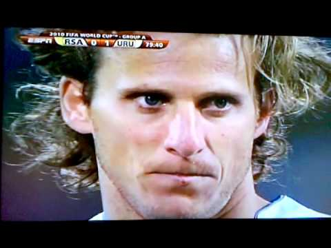 Diego Forlan VS South Africa World Cup Goal Penalty Kick