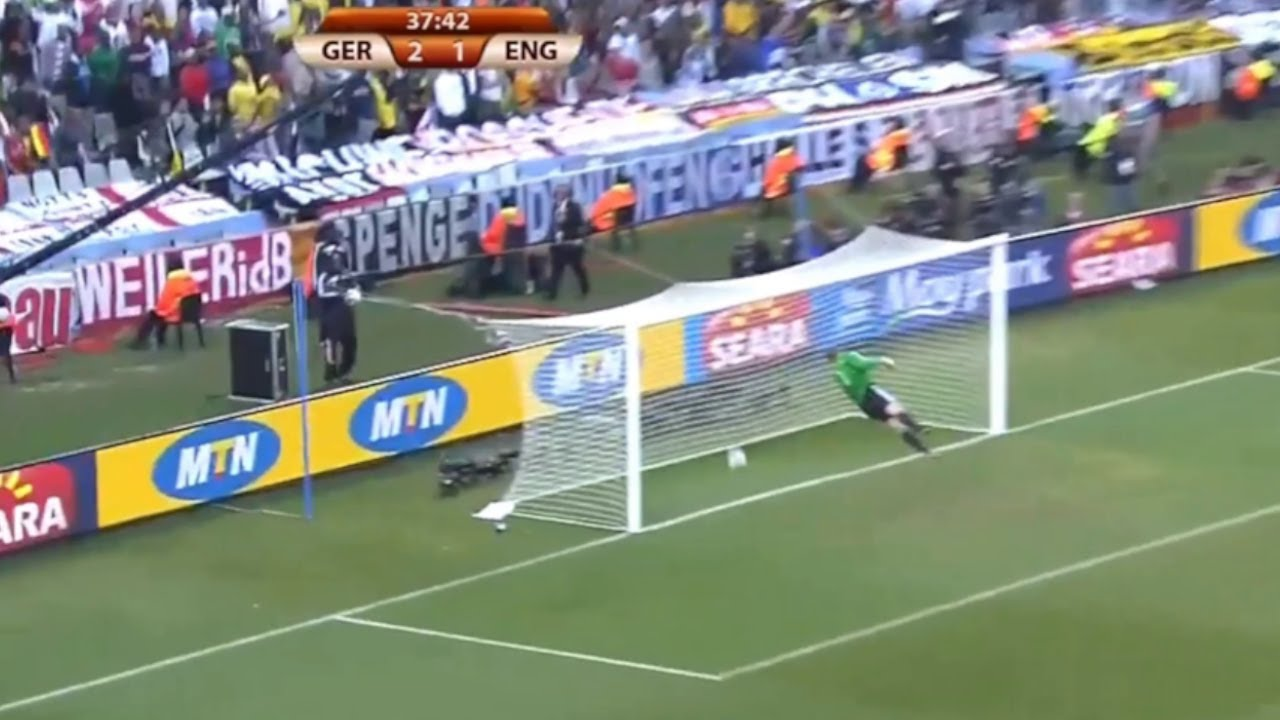 Frank Lampard's Disallowed Goal v Germany 2010 World Cup