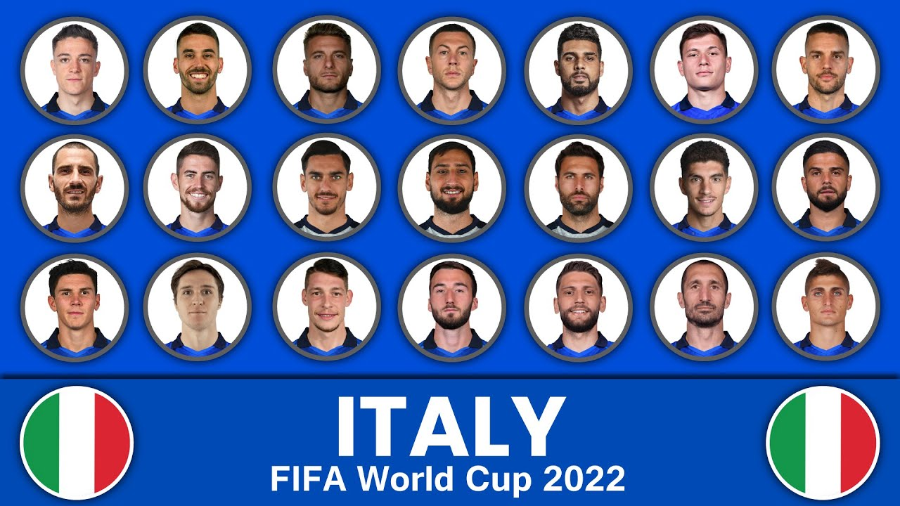 Italy Football Squad in FIFA World Cup 2022 ? Italy Football Team ? Italy Football Squad 2022
