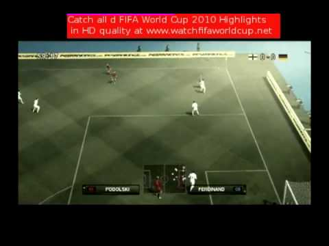 Lampard Denied Goal England vs Germany 4-1 Fifa World Cup June 27,2010 Highlights
