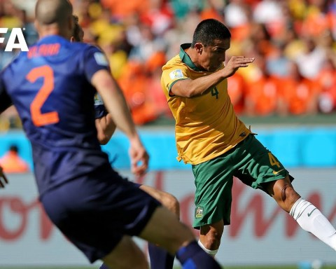 Tim Cahill goal vs Netherlands | ALL THE ANGLES | 2014 FIFA World Cup