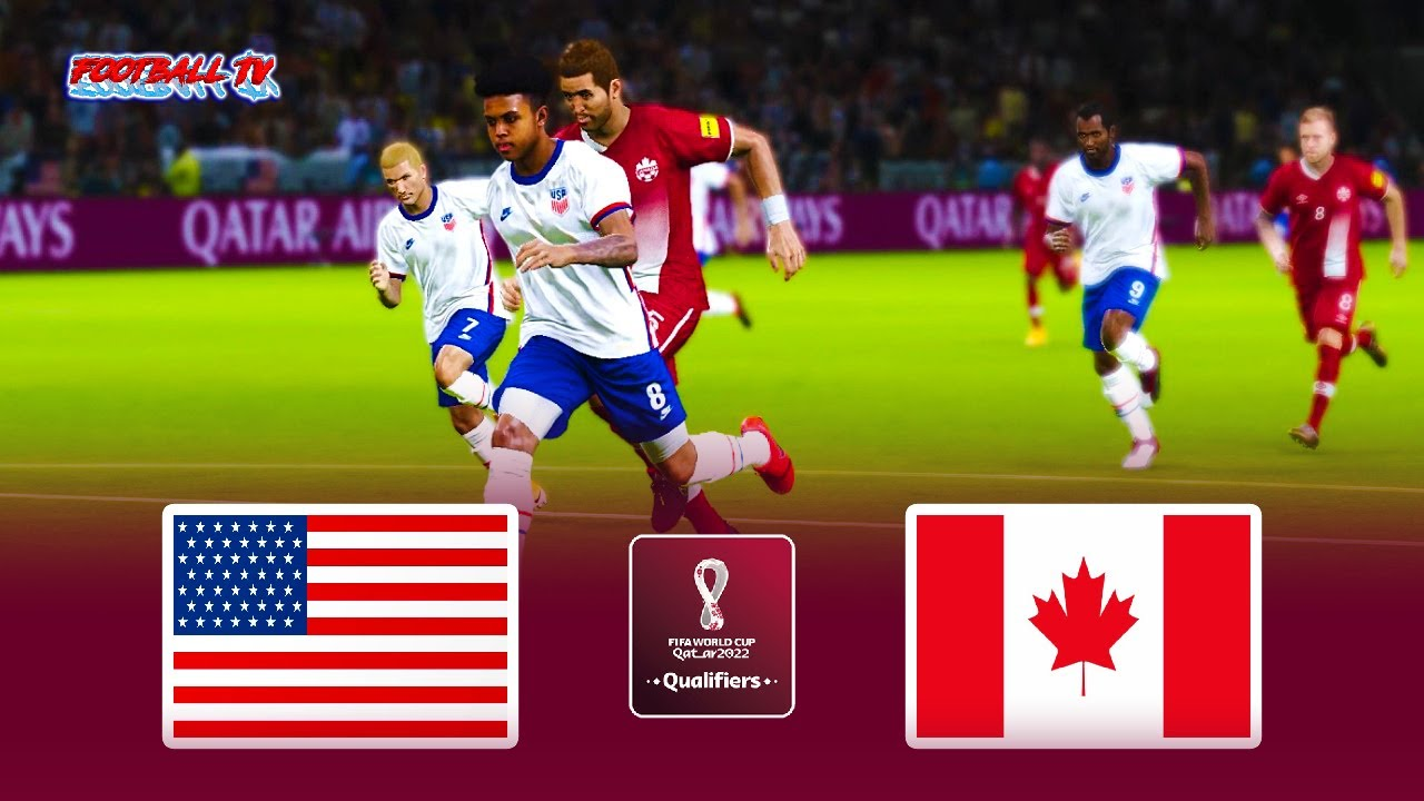 USA vs CANADA - FIFA World Cup 2022 Qualification - Full Match All Goals - eFootball PES 2021