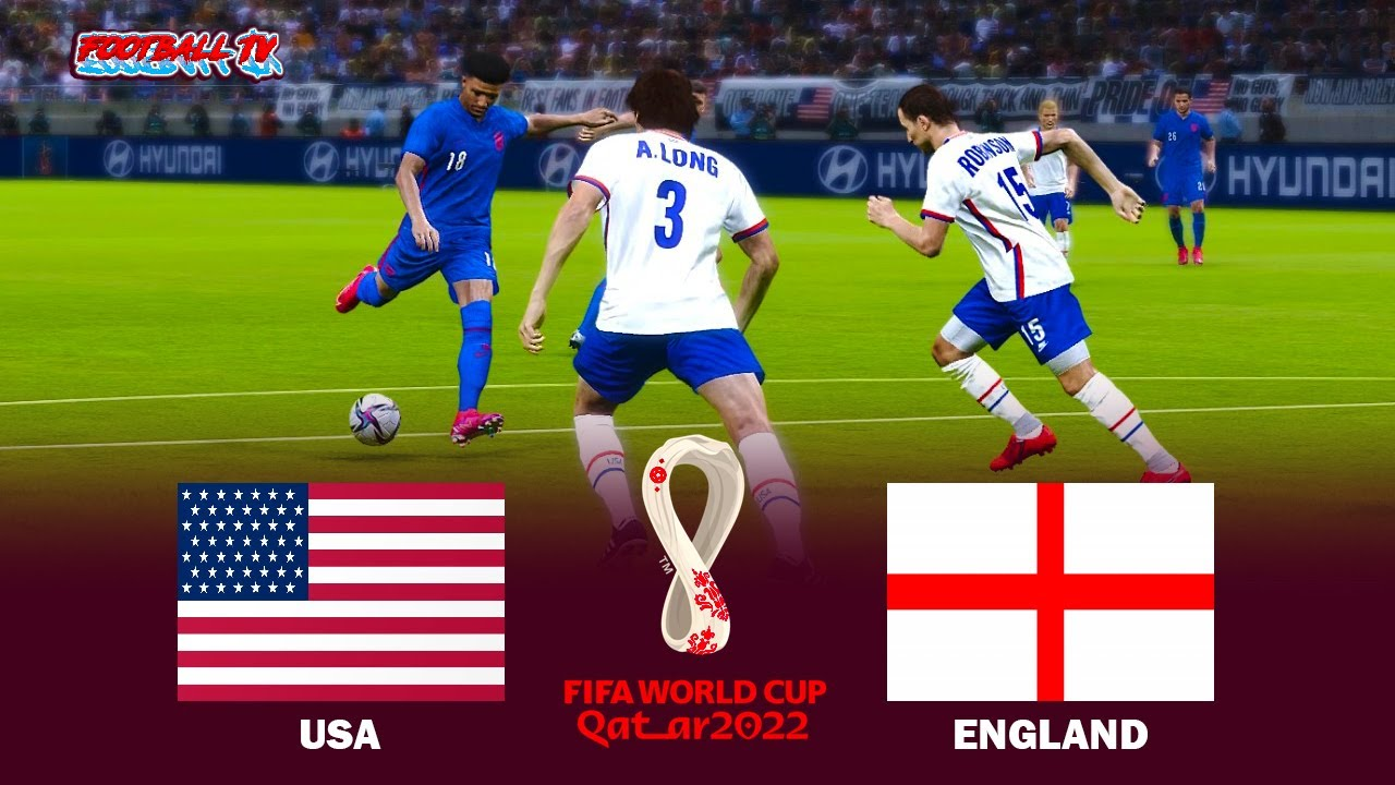 USA vs ENGLAND - FIFA World Cup 2022 - Full Match All Goals - eFootball PES 2021 Gameplay