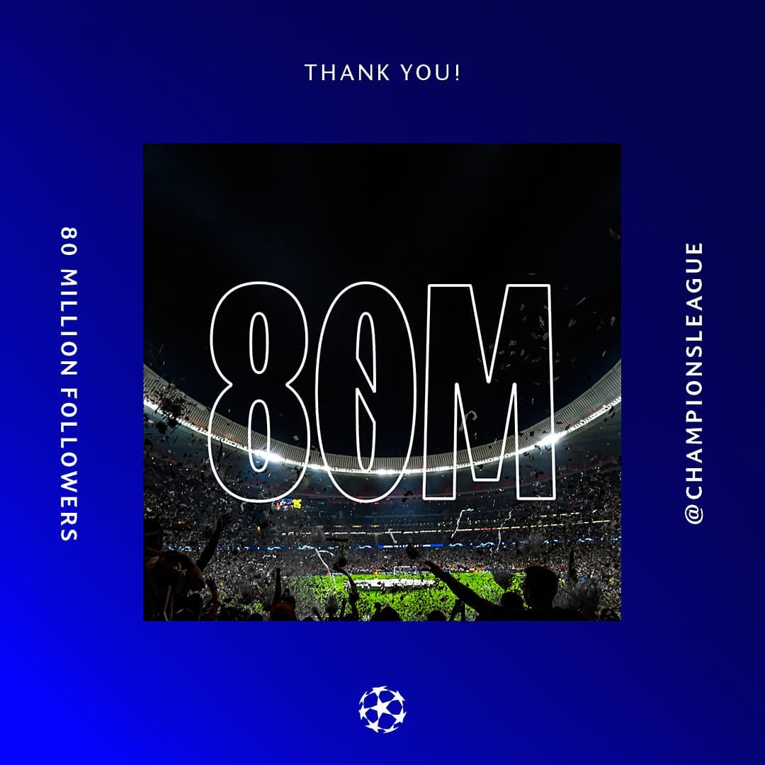 80 Million!  Thank you all  Tell us your one hope for the new  season ...
