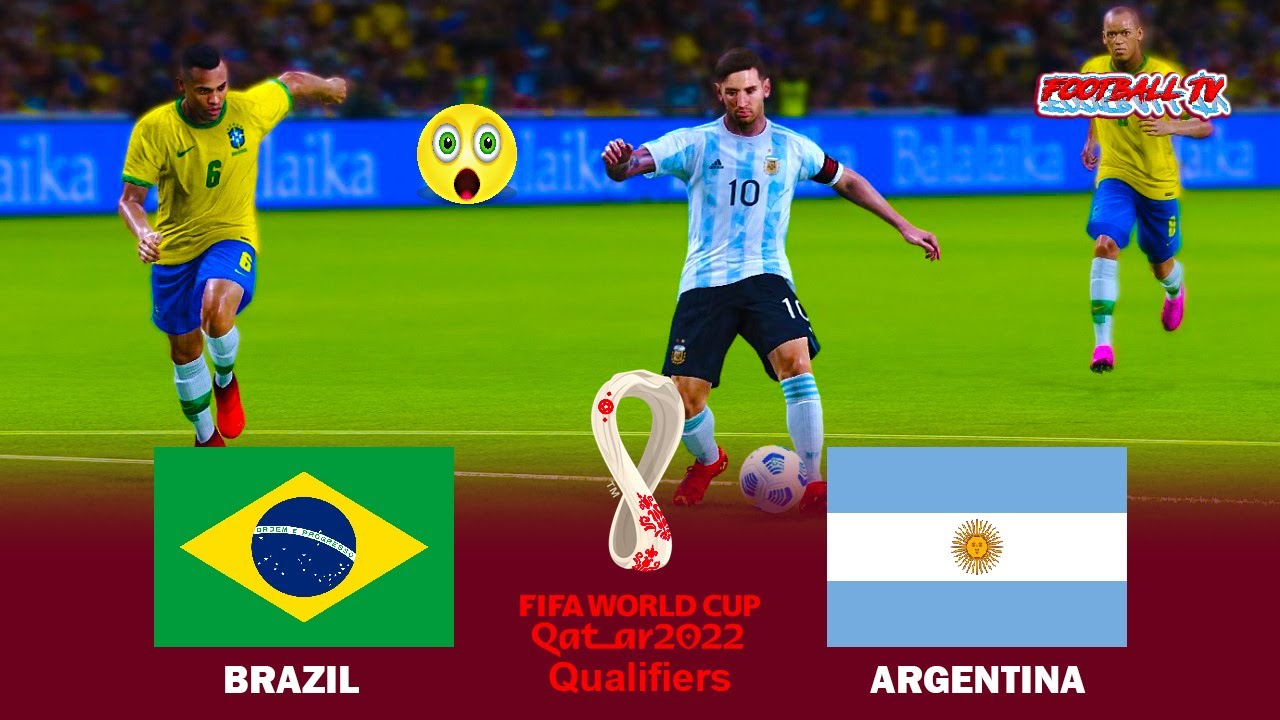 BRAZIL vs ARGENTINA - World Cup 2022 Qualifiers - Full Match All Goals - PES 2021 eFootball