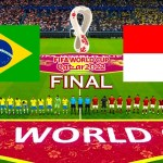 Brazil vs Indonesia - Final FIFA World Cup 2022 - Full Match All Goals - eFootball PES 2021 Gameplay