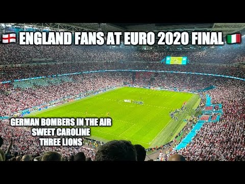 England Fans Chant and Sing at the Final of Euro 2020