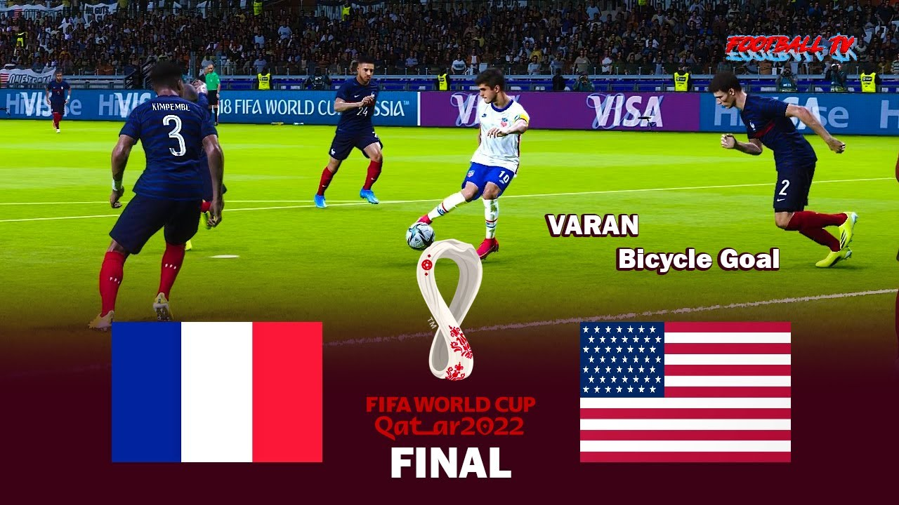 France vs USA - FIFA World Cup 2022 Final - Full Match All Goals - eFootball PES 2021 Gameplay