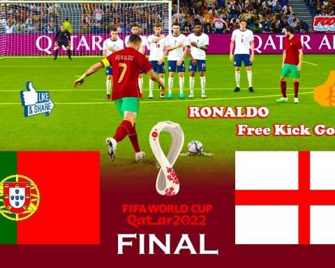 Portugal vs England - Final FIFA World Cup 2022 - Match eFootball PES 2021