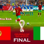 Portugal vs Italy - Final FIFA World Cup 2022 - Match eFootball PES 2021