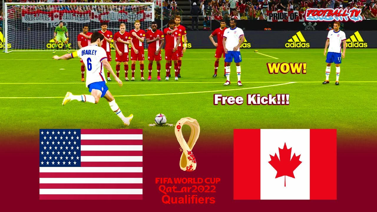 USA vs Canada - FIFA World Cup 2022 Qualifiers - Match eFootball PES 2021