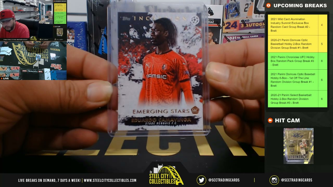 2020-21 Topps Inception UEFA Champions League Edition Soccer Hobby Box - Live Break - Eric R