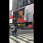 Historical free kick Goal against Spain at FIFA World Cup 2018 [ Times square, NYC ]