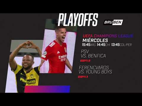 PSV vs Benfica   Ferenvaros vs Young Boys   UEFA Champions League Play - off Promo