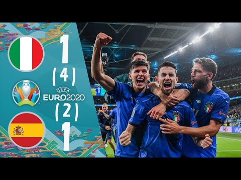Spain (2)1 - 1(4) Italy UEFA EURO 2020 Semi Final Extended Highlights & All Goals FHD