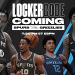 We're dropping a Locker Code on the Spurs vs. Grizzlies broadcast  Who's watchin...