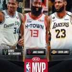 The three finalists for 2019-20   James Harden &  ...