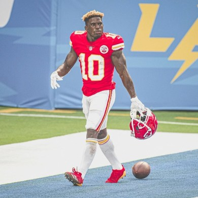 17 total touchdowns for Tyreek Hill this past season ...