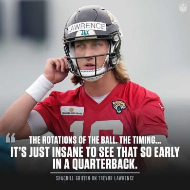 Shaquill Griffin can't believe how good Trevor Lawrence is already.  (via ...