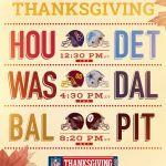 UP NEXT: A Thanksgiving Day full of football! ...
