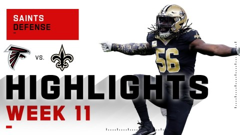 Saints Defense Threw Sack Party on Matt Ryan's Face   NFL 2020 Highlights