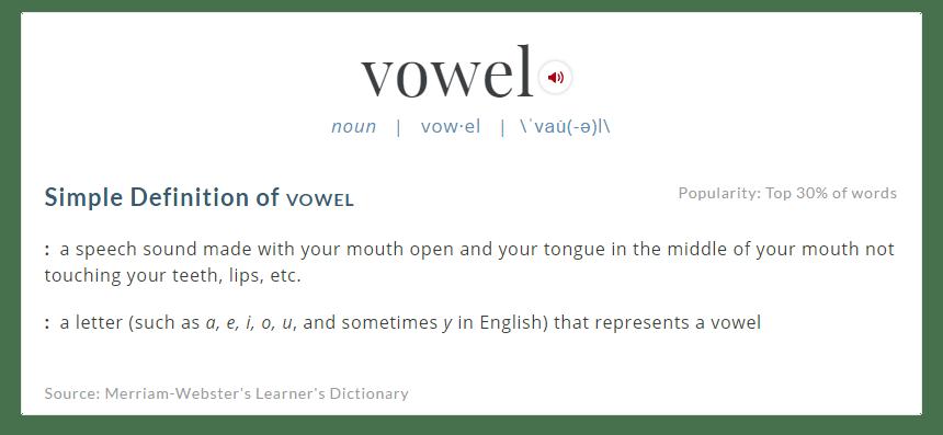 webster-vowel-definition