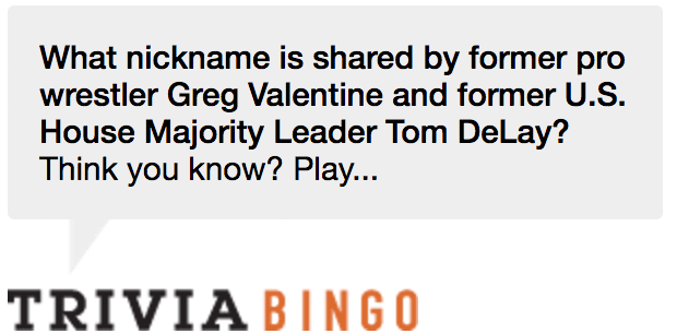 Trivia Bingo