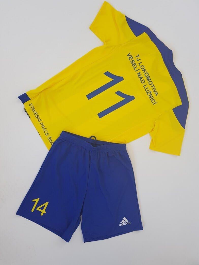 Potisk fotbalových dresů Veselí nad Lužnicí